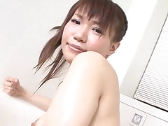 Pal licks, fingers and bonks bushy snatch of girlie from Asia